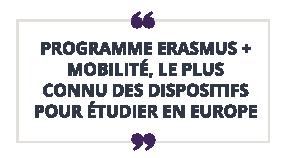 Programme erasmus  mobilité, le plus connu des dispositifs pour étudier en europe