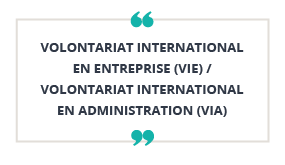 Volontariat International en Entreprise (VIE) /  Volontariat International en Administration (VIA)