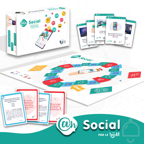 """@h...Social !  Les réseaux sociaux sont de formidables outils de communication, de sociabilisation et parfois d'information. Mais encore faut-il apprendre à éviter les pièges qu'ils recèlent. C'est tout le sens du jeu @h... Social ! [toggle title=""""Lire la suite""""]   @h... Social ! 2.0 évolue et s'offre une nouvelle version en 2020 ! Contenu et mécanique de jeu entièrement mis à jour, nouveau design,  dans cette nouvelle version d'@h...Social votre objectif est d'être le premier à atteindre le million d'abonnés ! Mais êtes-vous prêt à tout pour gagner en notoriété ? La question clé du jeu se pose : """"Que se passe t-il lorsque vos amis réagissent sous vos yeux à vos publications ?"""" Des questions posées par l'animateur sur la culture numérique, les droits sur internet, les comportements à adopter complètent le parcours des équipes et permettent à celles-ci de gagner des points de prudence ! Car oui, pour gagner à @h...Social ! il faut devenir le plus populaire possible mais en maintenant un certain niveau de prudence. Sur le net, comme dans la """"vraie vie"""", tout est question de dosage !  Ce jeu est disponible à la vente [/toggle]"""